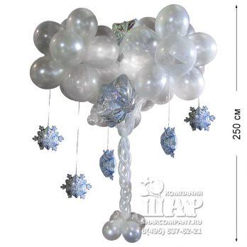 Фигура из шаров «Снежное дерево»