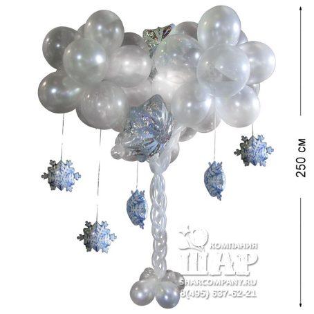 """Фигура из шаров """"Снежное дерево"""""""