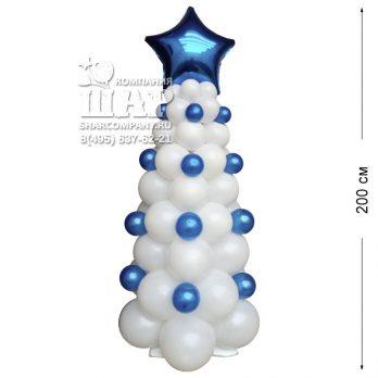 Фигура из шаров «Елочка ледяная»