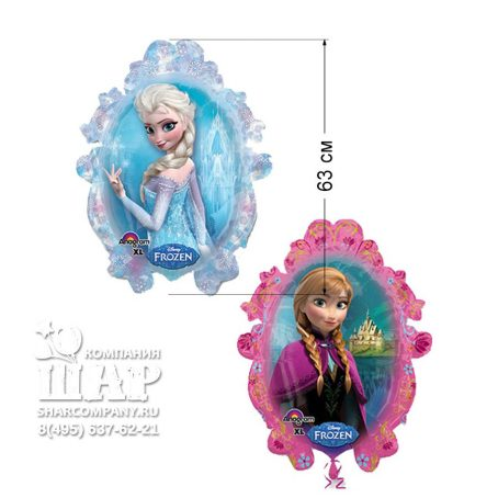"""Фольгированный шар """"Холодное сердце. Эльза и Анна"""""""