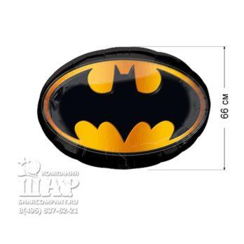 Фольгированный шар «Бэтмен эмблема»