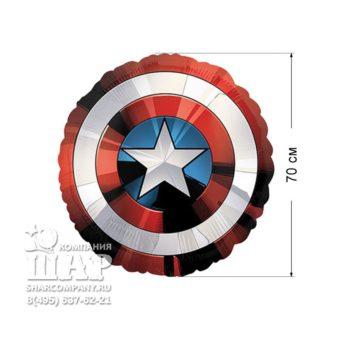Фольгированный шар «Щит Мстители»
