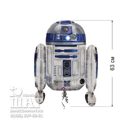 """Фольгированный шар """"Звездные воины Робот R2D2"""""""