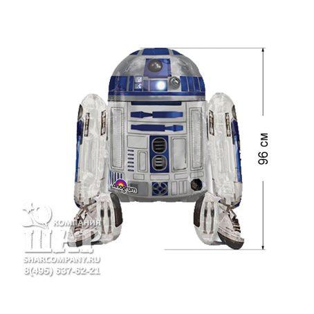 """Ходячий шар """"Звездные войны Робот R2D2"""""""