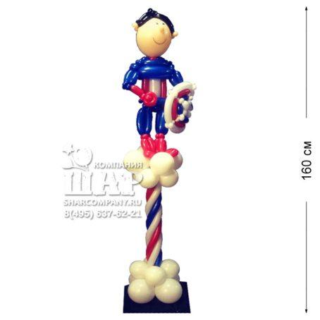 """Фигура из шаров """"Капитан Америка - Перерождение"""""""