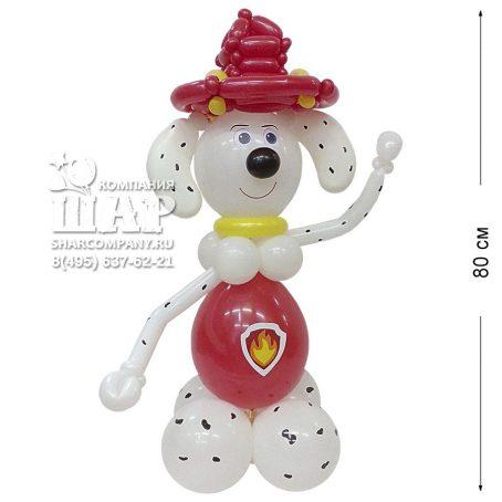 Фигура доброго щенка из шаров