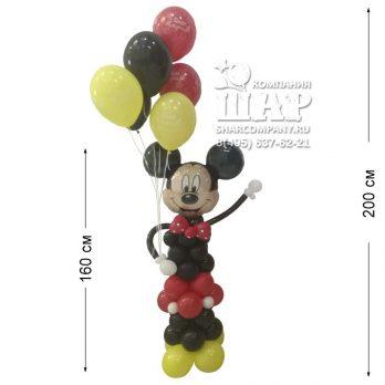 Фигура из шаров «Микки Маус»