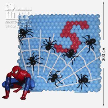 Панно из шаров «Человек паук»