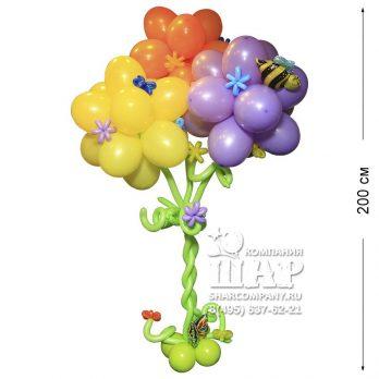 Фигура из шаров «Радужное дерево»