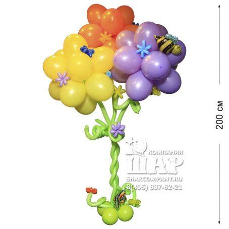 """Фигура из шаров """"Радужное дерево"""""""