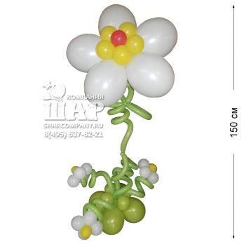 Цветок из шаров «Ромашка»