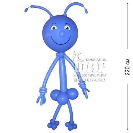 """Фигура из шаров """"Синий гуманоид"""""""