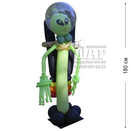 """Фигура из шаров """"Зеленый человечек"""""""