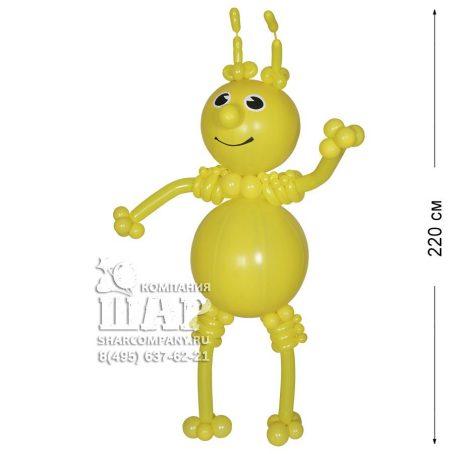 """Фигура из шаров """"Желтый гуманоид"""""""