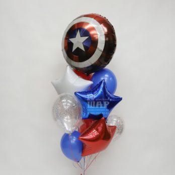 """Букет из шаров """"Капитан Америка"""""""