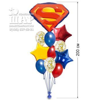 Букет из шаров «Супермен эмблема»