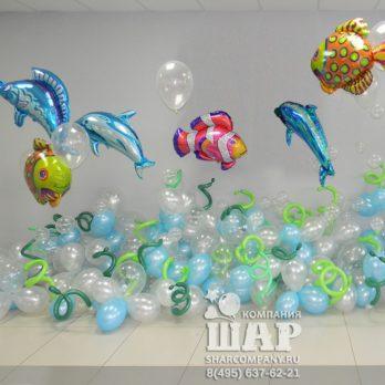 Композиция из шаров «Море»