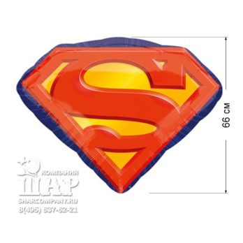 """Фольгированный шар """"Супермен эмблема"""""""