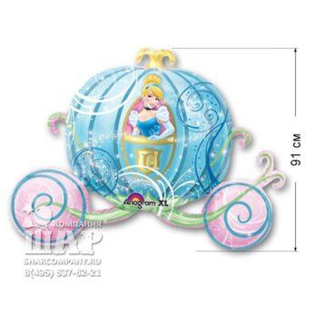 Фольгированный шар «Карета»